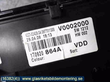 Combined Instrument - VW Caddy -09 1T0920864A -