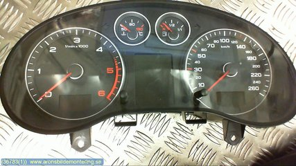 Combined Instrument - Audi A3, S3 -08  8P0920931S