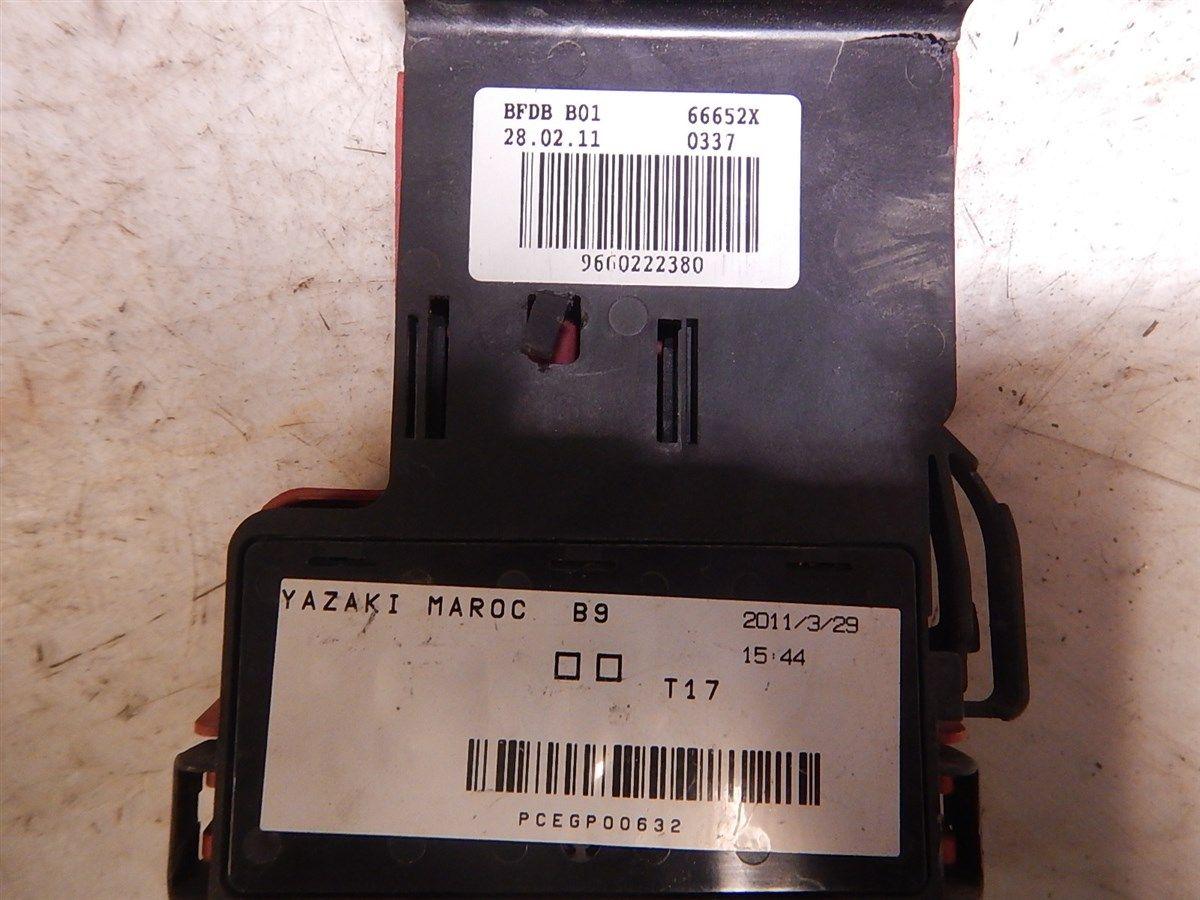 Fuse Box Electricity Central Citroen Berlingo 11 W184358 6500ek 9660222380